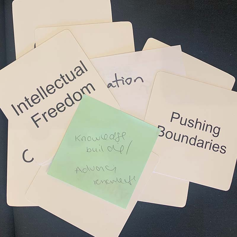 Values cards